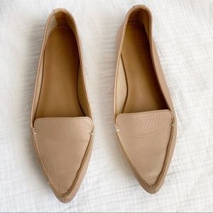 J. Crew blush nude pointed flats